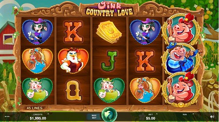 Oink Country Love slot symbols