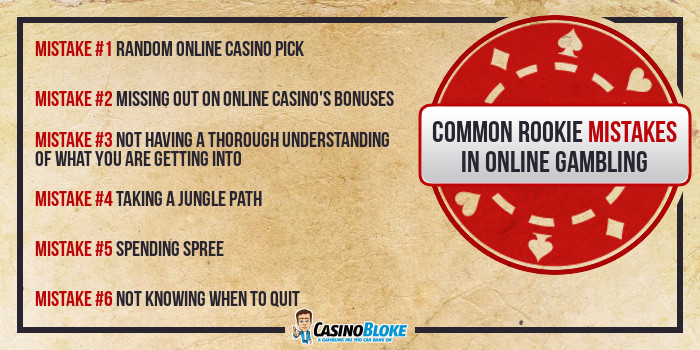 Common Rookie Mistakes in Online Gambling