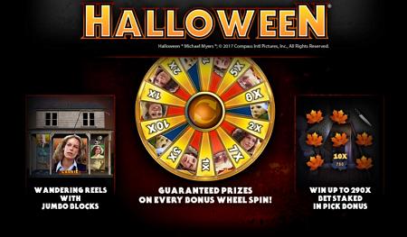 Halloween slot features