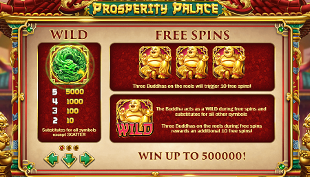 Prosperity Palace slot features