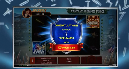 Fantasy Mission Force slot features