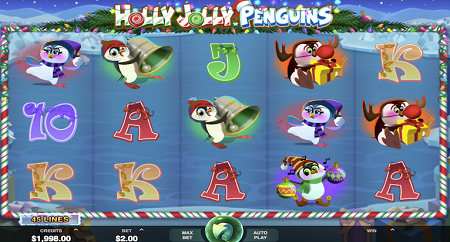 Holly Jolly Penguins slot symbols
