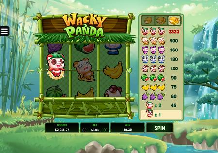 Wacky Panda slot features