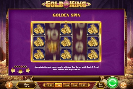 Gold King slot features