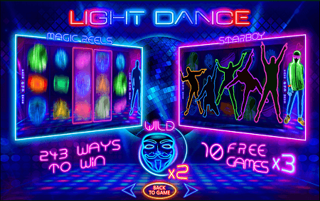 Light Dance slot features