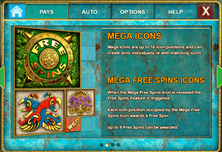Temple Quest Spinfinity slot features