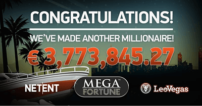 NetEnt's Millionaire Factory Working Overtime: LeoVegas Player Wins €3.7m