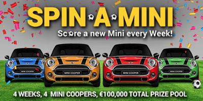 Win a Mini Cooper in SkillOnNet's Spin-A-Mini Promotion