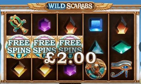 Wild Scarabs slot symbols