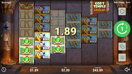 Gods Temple Deluxe slot features