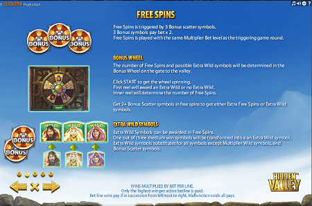Hidden Valley slot features