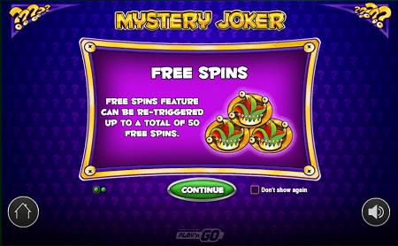 Mystery Joker slot features