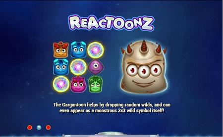 Reactoonz slot features