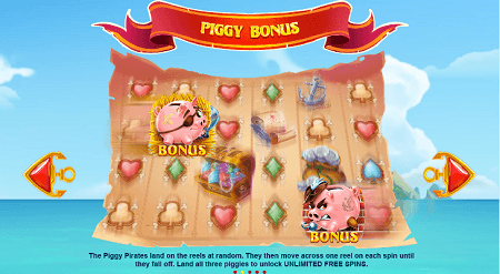 Piggy Pirates slot features