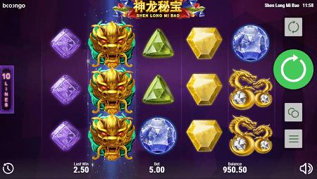 Shen Long Mi Bao slot features