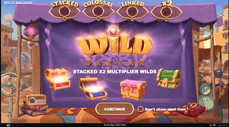 Wild Bazaar slot features