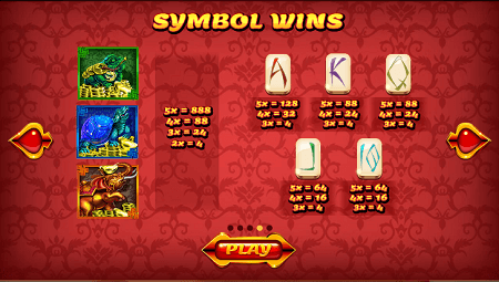 Asian Fortune slot symbols