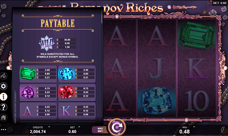 Romanov Riches slot symbols