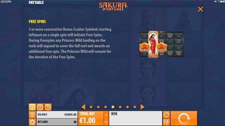 Sakura Fortune slot features