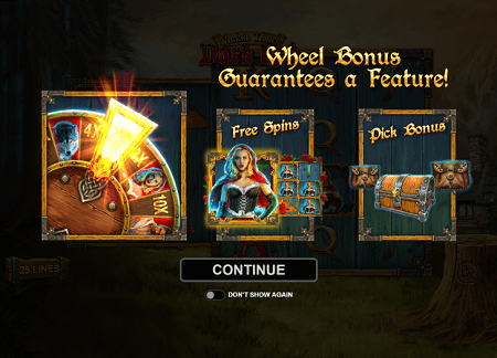 Wicked Tales Dark Red slot features