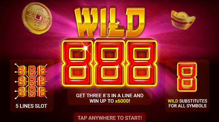 Wild 888 slot features