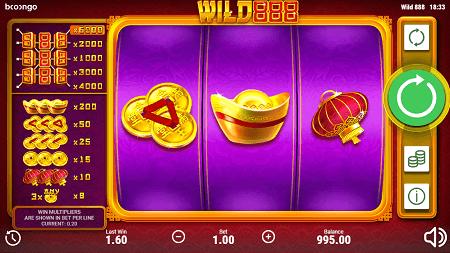 Wild 888 slot symbols