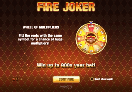 Fire Joker slot features