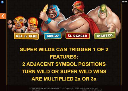Lucha Legends slot features