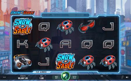 Action Ops Snow & Sable slot symbols