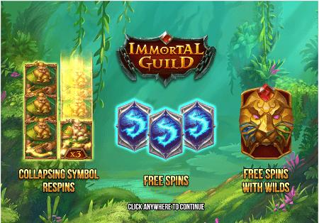 Immortal Guild slot features
