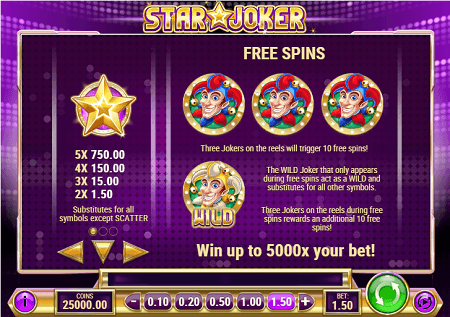 Star Joker slot features