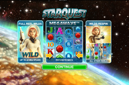Starquest slot features