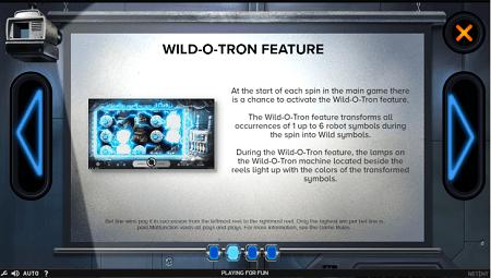 Wildotron slot features