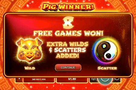 Pig Winner slot features