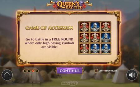Queens Day Tilt slot features