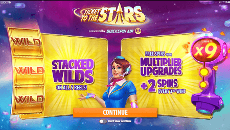 Ticket to the Stars slot features