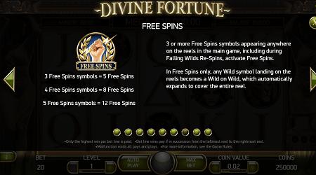 Divine Fortune slot features