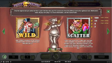 Piggy Riches slot features