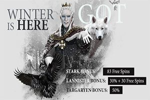 King Billy Casino invites you to play the Game of Thrones slot and earn free spins and bonuses