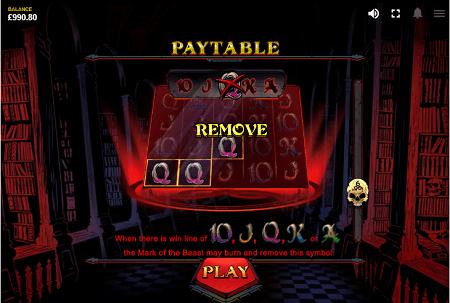 Devils number slot features