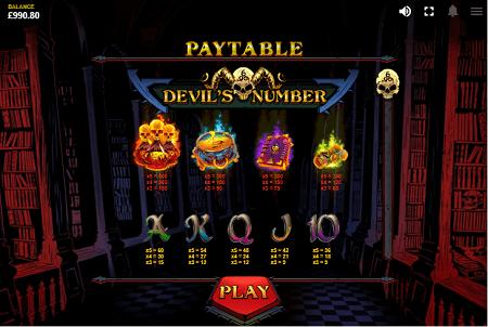Devils number slot symbols