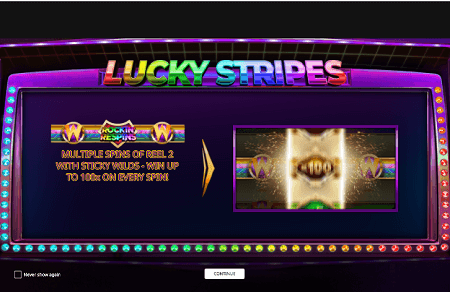 Lucky Stripes slot features