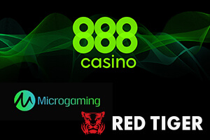 888 Casino adds Microgaming and Red Tiger Games