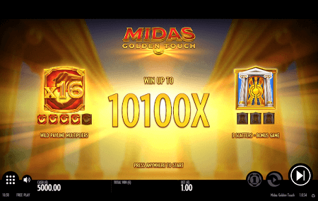 Midas Golden Touch slot features