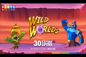 SlotsMillion offers 30 extra spins on the Wild Worlds slot to new customers