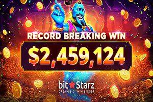 Lucky player at BitStarz Casino wins a $2.4 million jackpot