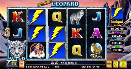 Lightning Leopard slot symbols