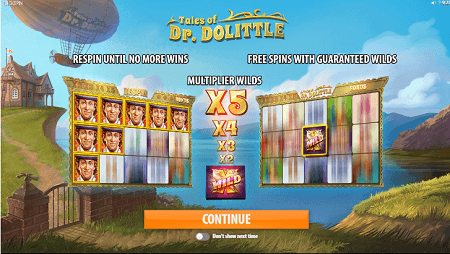 Tales of Dr Dolittle slot features