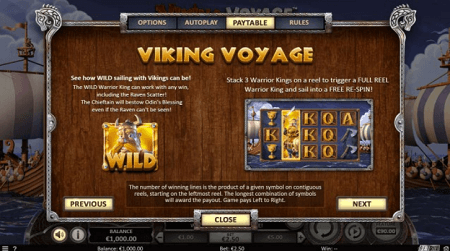 Viking Voyage slot features