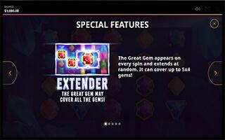 Great Gems slot Extender feature